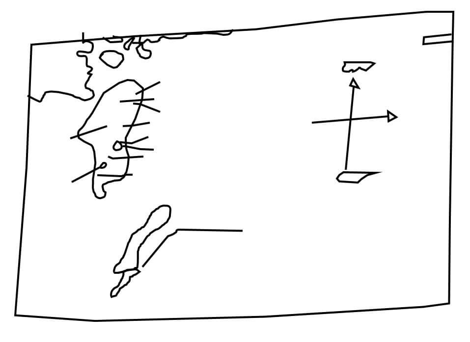 An interpretation of Zena Halpern's map of Oak Island.