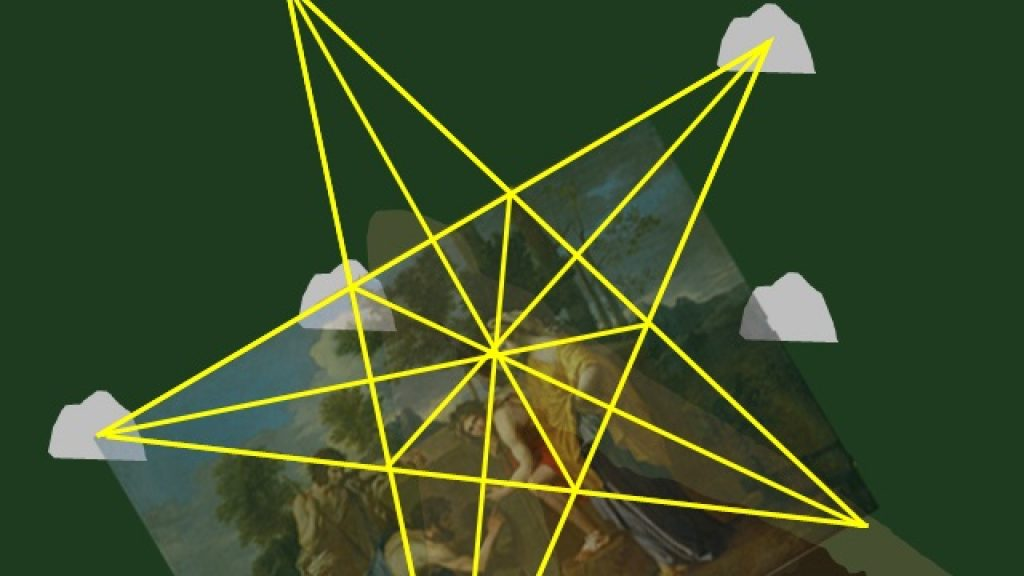 Oak Island Nolan's cross pentagram Shepherds of Arcadia map Et in Arcadia Ego