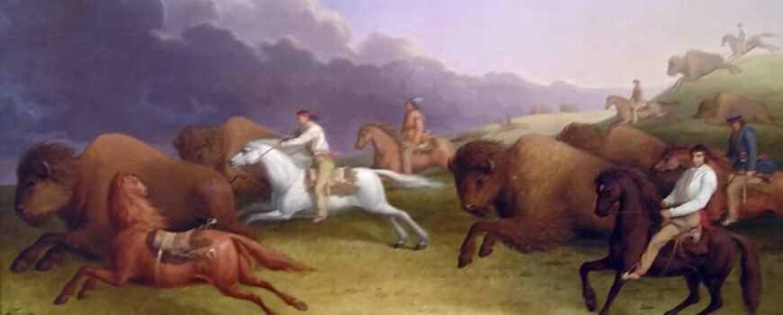 Metis-buffalo-hunt